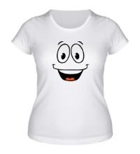 Женская футболка Радостный смайлик