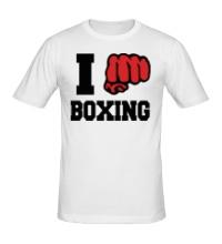 Мужская футболка I love boxing