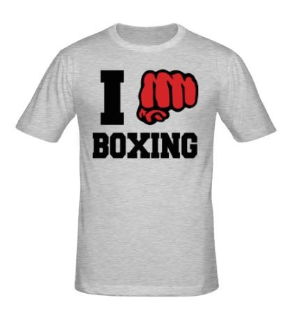 Мужская футболка «I love boxing»