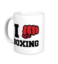 Керамическая кружка I love boxing