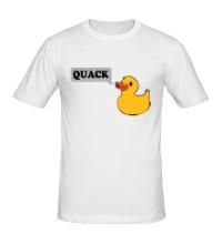 Мужская футболка Утка говорит QUACK