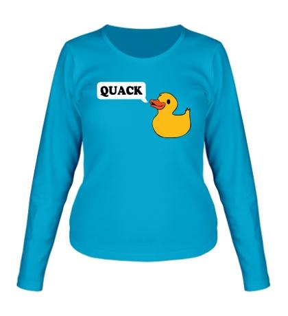 Женский лонгслив «Утка говорит QUACK»
