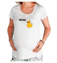 Футболка для беременной Утка говорит QUACK