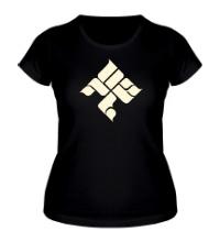 Женская футболка ОУ74 Tankograd Underground Glow
