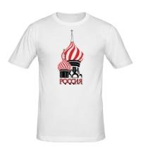 Мужская футболка Россия и Кремль