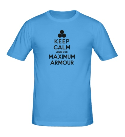 Мужская футболка Keep calm and use maximum armour