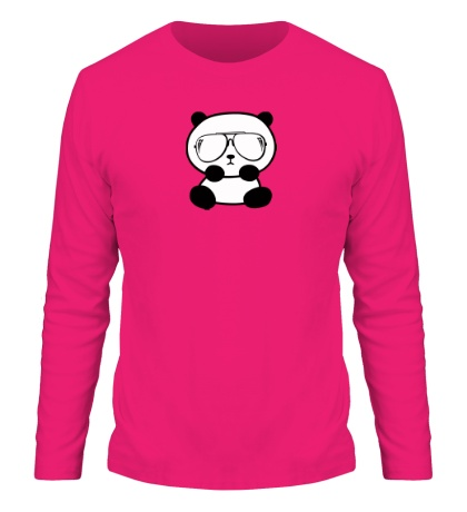 Мужской лонгслив Стильная панда