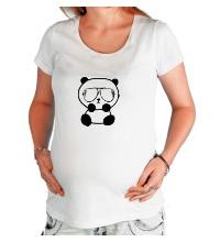 Футболка для беременной Стильная панда