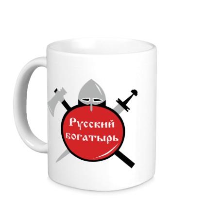 Керамическая кружка Русский воин-богатырь