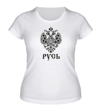 Женская футболка Герб Руси