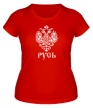 Женская футболка «Герб Руси» - Фото 1
