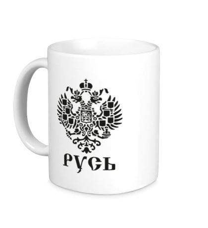 Керамическая кружка Герб Руси