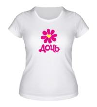 Женская футболка Дочь