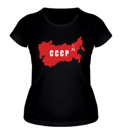 Женская футболка Территория СССР