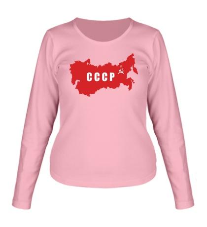 Женский лонгслив Территория СССР
