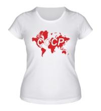 Женская футболка Весь мир СССР