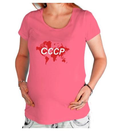 Футболка для беременной Весь мир СССР