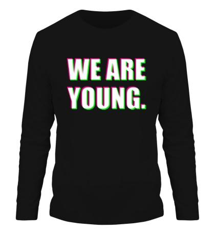 Мужской лонгслив «We are young»