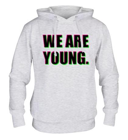 Толстовка с капюшоном We are young