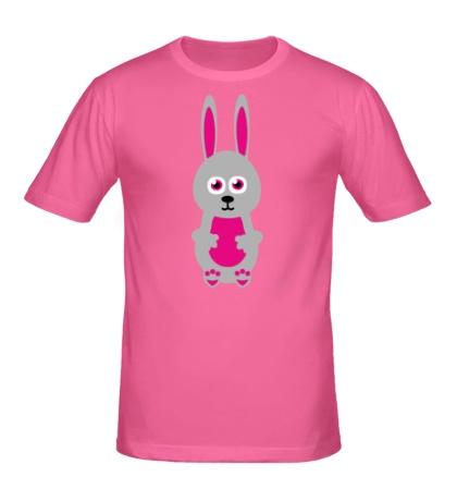 Мужская футболка Милый заяц