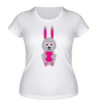 Женская футболка Милый заяц