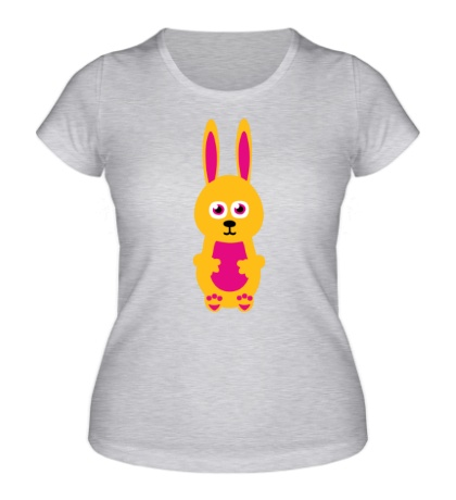 Женская футболка «Милый заяц»