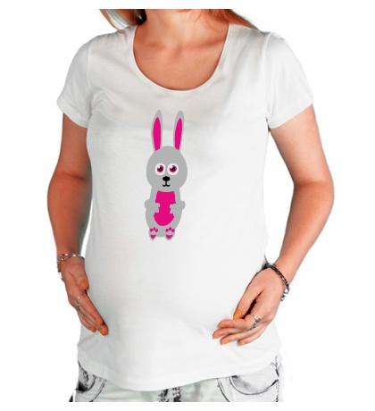 Футболка для беременной Милый заяц