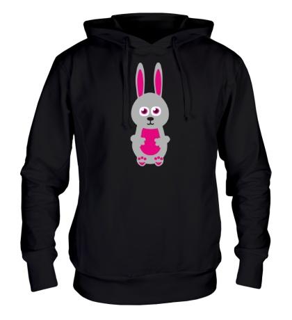 Толстовка с капюшоном Милый заяц