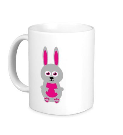 Керамическая кружка Милый заяц