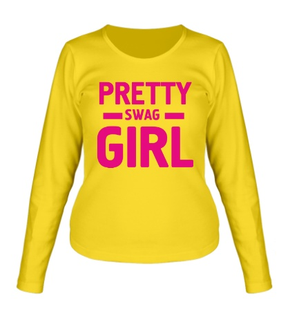 Женский лонгслив Pretty swag girl