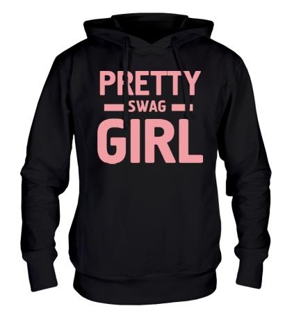 Толстовка с капюшоном Pretty swag girl