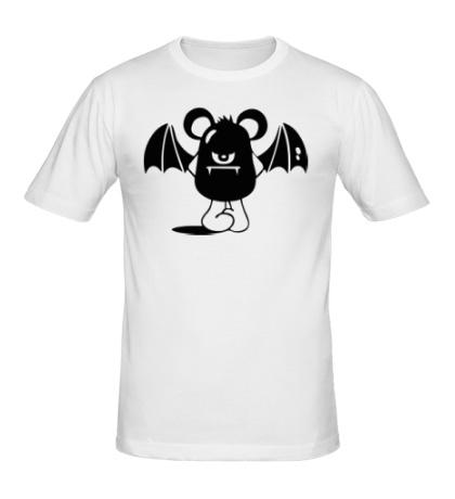 Мужская футболка Недовольная летучая мышь