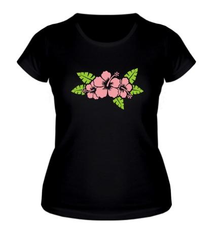 Женская футболка «Красивые цветы»
