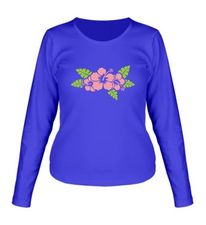 Женский лонгслив Красивые цветы