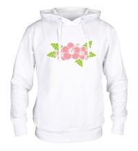 Толстовка с капюшоном Красивые цветы