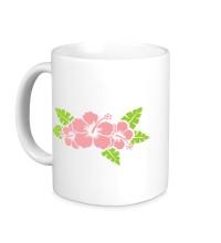 Керамическая кружка Красивые цветы