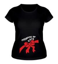Женская футболка Подарок от бога