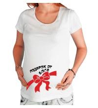 Футболка для беременной Подарок от бога