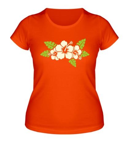 Женская футболка Цветы светятся