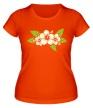 Женская футболка «Цветы светятся» - Фото 1