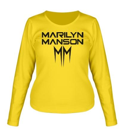 Женский лонгслив Marilyn Manson