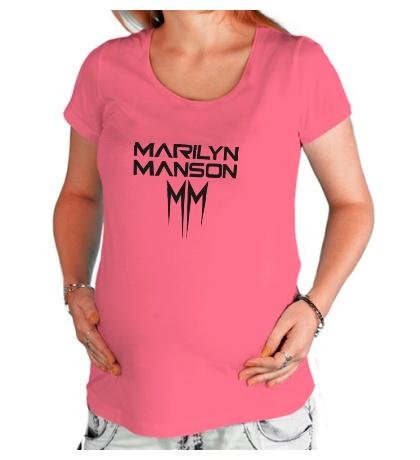Футболка для беременной Marilyn Manson