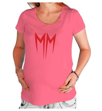 Футболка для беременной Marilyn Manson Symbol