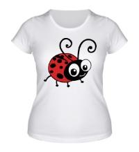 Женская футболка Милая божья коровка