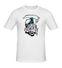 Мужская футболка Скелет с косой