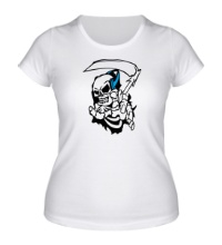 Женская футболка Скелет с косой