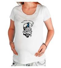 Футболка для беременной Скелет с косой