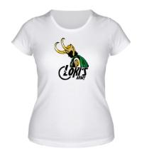 Женская футболка Lokis army