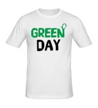 Мужская футболка Vegan green day