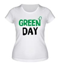 Женская футболка Vegan green day